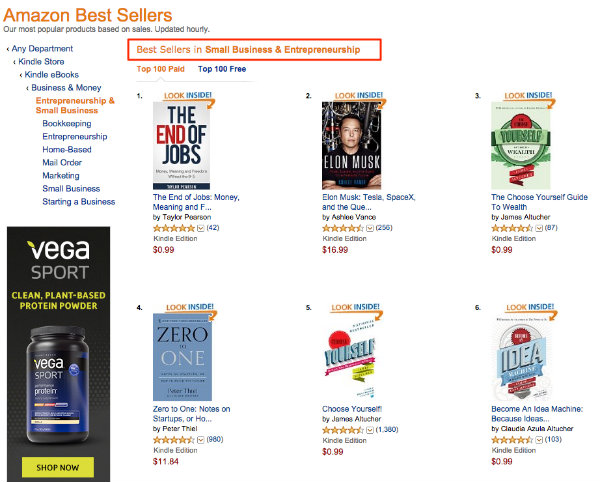 Amazon Best Sellers in Small Business and Entrepreneurship