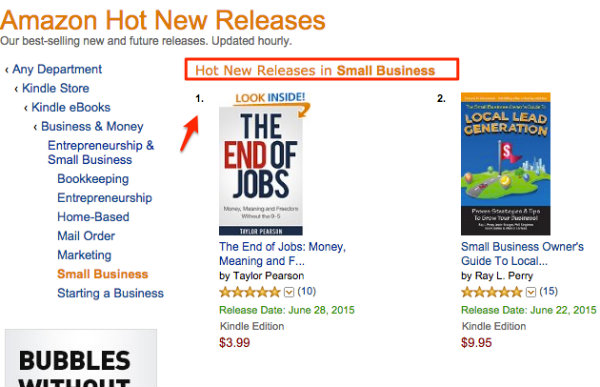 Amazon Hot New Release The End of Jobs