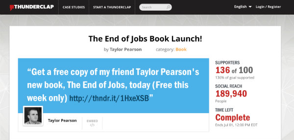thunderclap the end of jobs